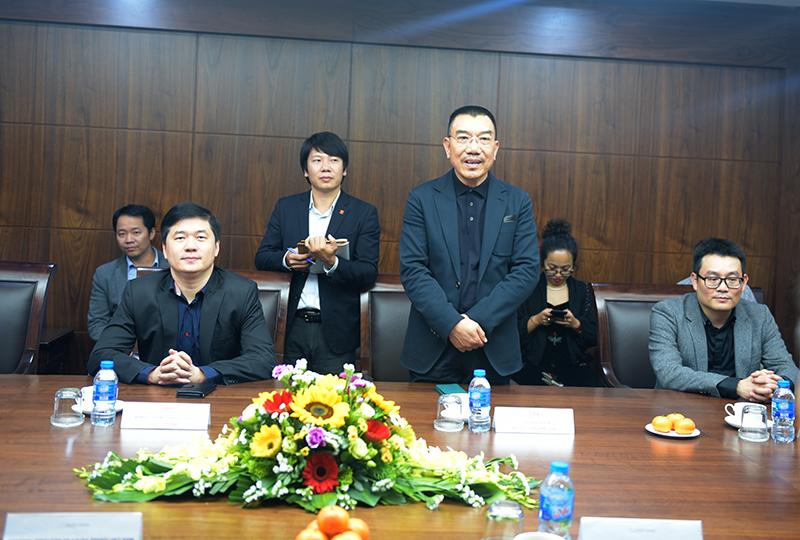 Chủ tịch HĐQT Nguyễn Văn Công phát biểu chia sẻ tại buổi gặp gỡ