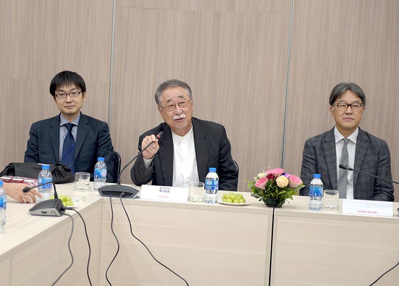 Ông Michimasa FUJIE – Chủ tịch công ty ESPAD phát biểu tại buổi lễ (ở giữa)
