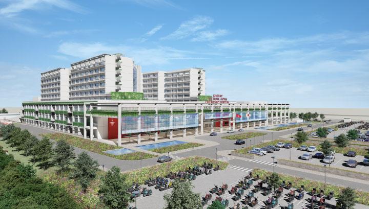 Phối cảnh dự án Bệnh viện Chợ Rẫy hữu nghị Việt - Nhật