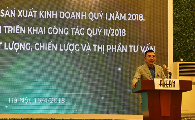 Ông Nguyễn Văn Công - Chủ tịch HĐQT phát biểu chỉ đạo hội nghị