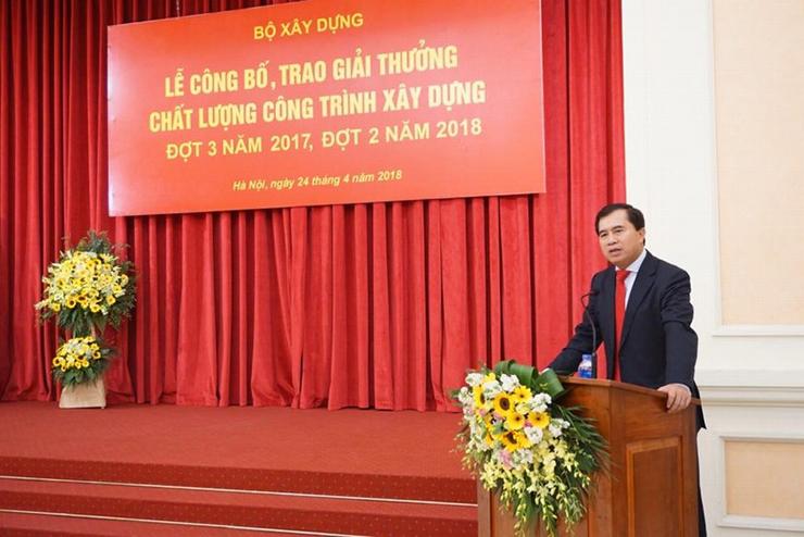 Thứ trưởng Bộ Xây dựng – Lê Quang Hùng phát biểu tại buổi lễ