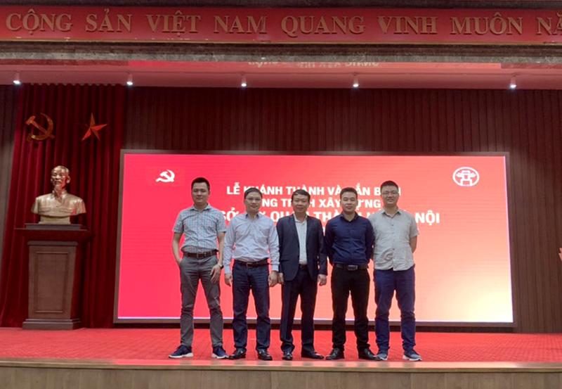 UVHĐQT, Phó Tổng Giám đốc Nguyễn Mạnh Tuấn( giữa) cùng đoàn TVGS CONINCO tại lễ khánh thành