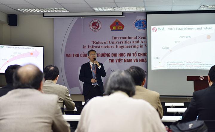 TS. Phan Lê Bình - Chuyên gia JICA, Giảng viên Chương trình MIE (VJU) giới thiệu về trường Đại học Việt Nhật