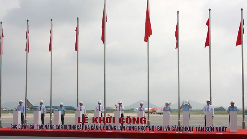 Lễ khởi công 2 dự án nâng cấp, cải tạo đường băng Nội Bài, Tân Sơn Nhất
