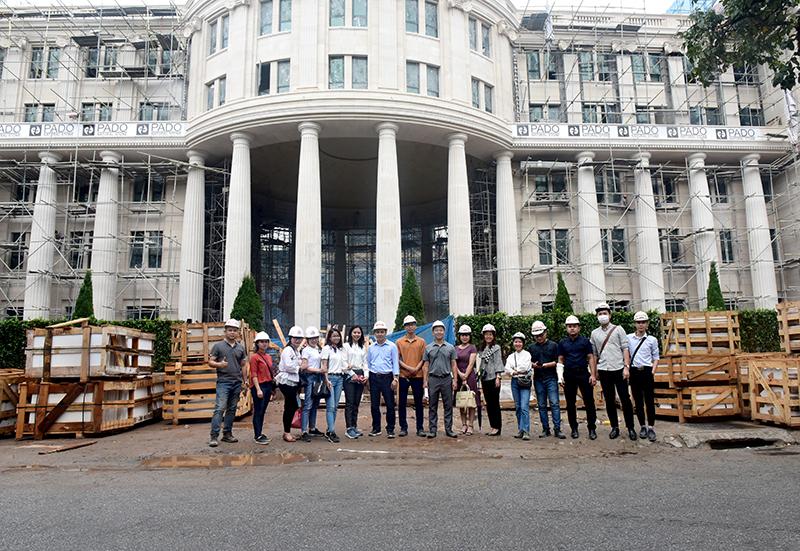 Đoàn chuyên gia CONINCO tại công trường dự án