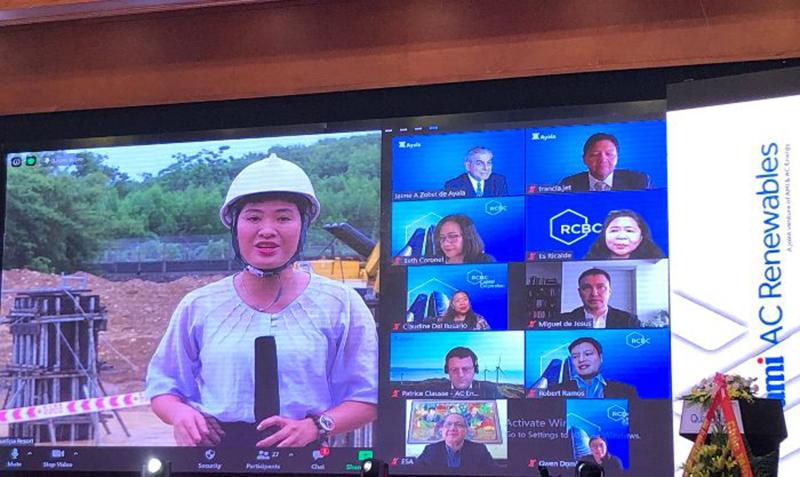 Lễ khởi công trực tuyến kết nối các điểm cầu từ nước ngoài và tại công trường Dự án