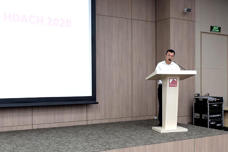 TS. Nguyễn Đắc Phương – Trưởng phòng Kinh doanh báo cáo tổng kết năm 2019, kế hoạch năm 2020