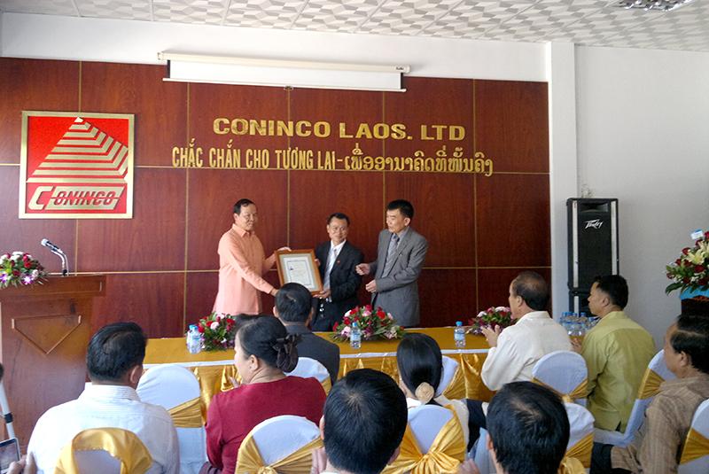 Ngày 26/11/2011, Công ty TNHH Một thành viên Tư vấn công nghệ, thiết bị và Kiểm định xây dựng CONINCO Lào chính thức ra mắt tại Thủ đô Viêng Chăn