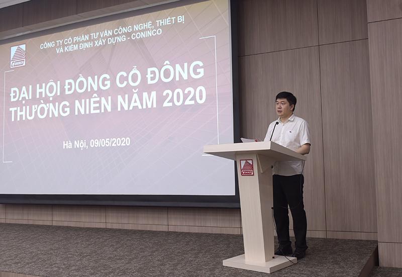 TS. Hà Minh - UV.HĐQT, Tổng Giám đốc Công ty trình bày báo cáo của HĐQT năm 2019