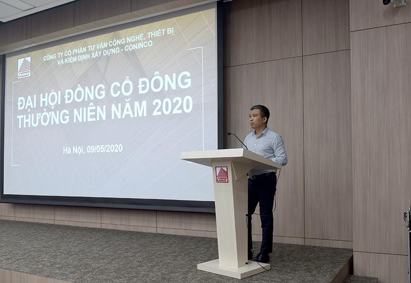 Ông Nguyễn Tiến Doát - Trưởng Ban kiểm soát trình bày báo cáo của Ban kiểm soát năm 2019