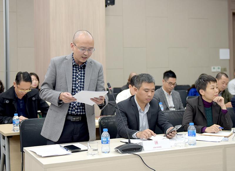 Ông Lê Minh Hoàng – Phó Chánh Văn phòng đọc các quyết định bổ nhiệm
