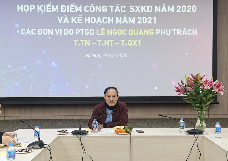 PTGĐ Lê Ngọc Quang chủ trì hội nghị
