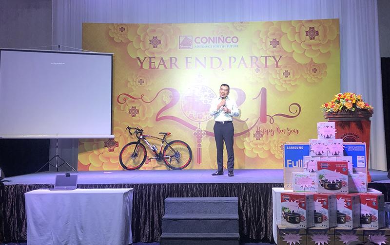 Chủ tịch HĐQT Nguyễn Văn Công chúc mừng năm mới tới toàn thể CBNV và gia đình tại buổi tiệc tất niên