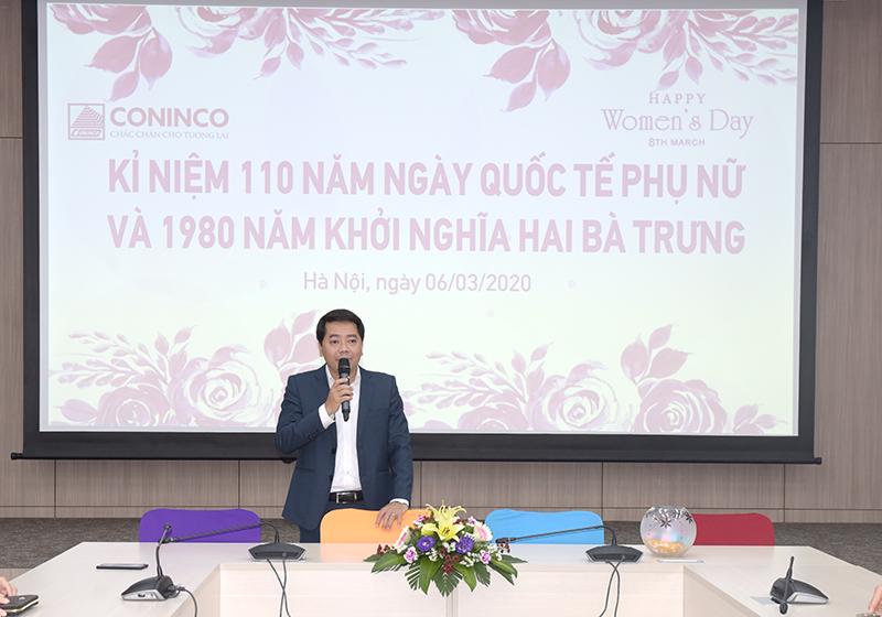 Đ/c Lê Xuân Tường - Phó Bí thư Đảng ủy, Trưởng phòng Tài chính đầu tư chi sẻ tại buổi mít tinh