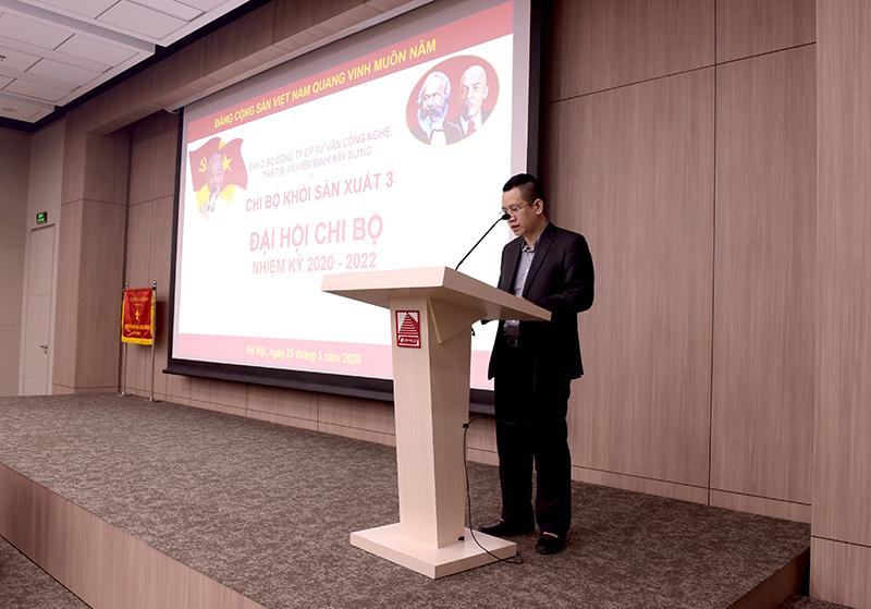 Đ/c Trần Chiến Thắng với bài tham luận về học tập triển khai các Nghị quyết của Đảng