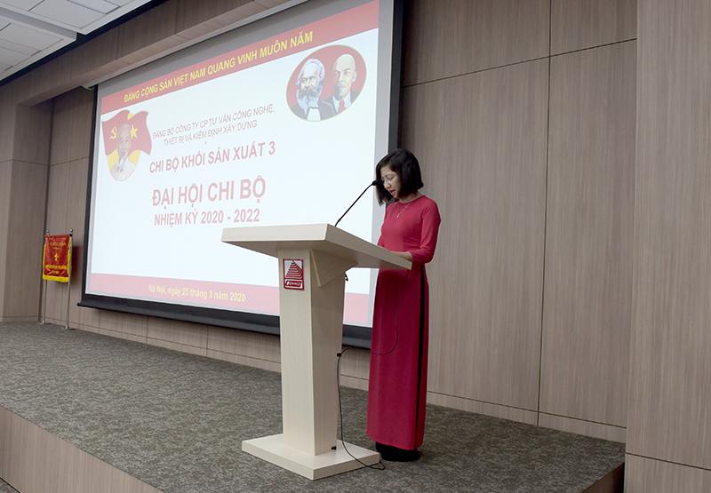 Đ/c Vũ Hồng Vân tham luận về việc đổi mới sinh hoạt chuyên đề