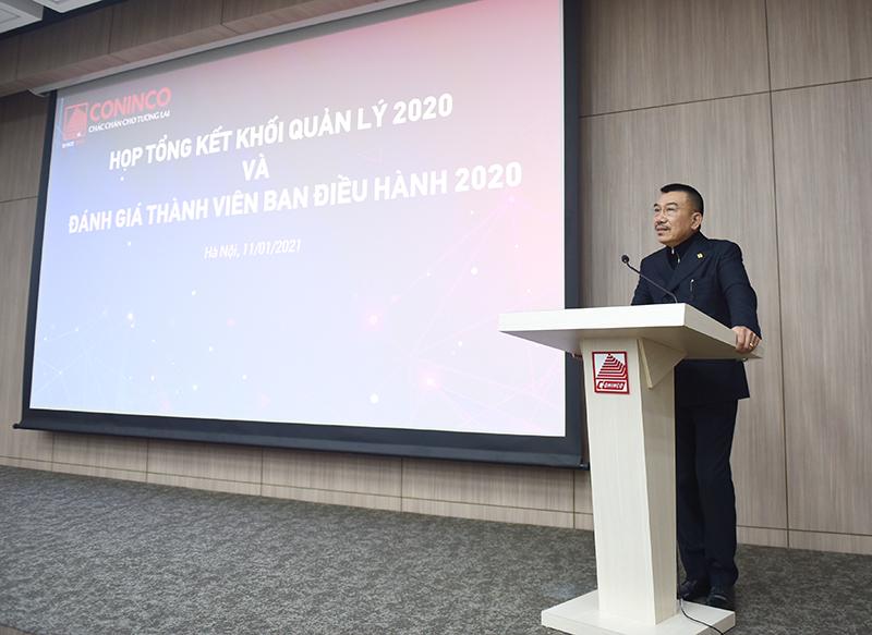 Ông Nguyễn Văn Công – Chủ tịch Hội đồng quản trị phát biểu chỉ đạo tại hội nghị