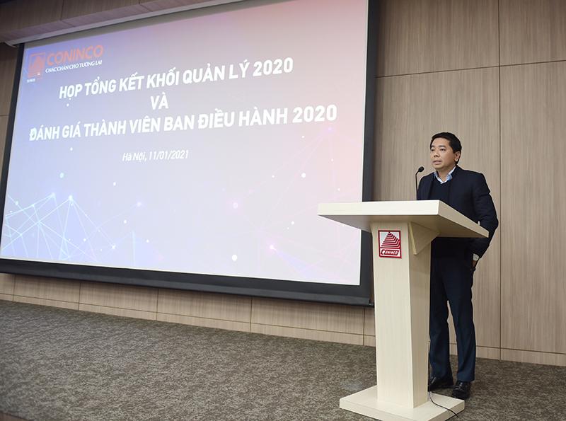Ông Nguyễn Tiến Doát – Chánh Văn phòng báo cáo công tác khối văn phòng năm 2020