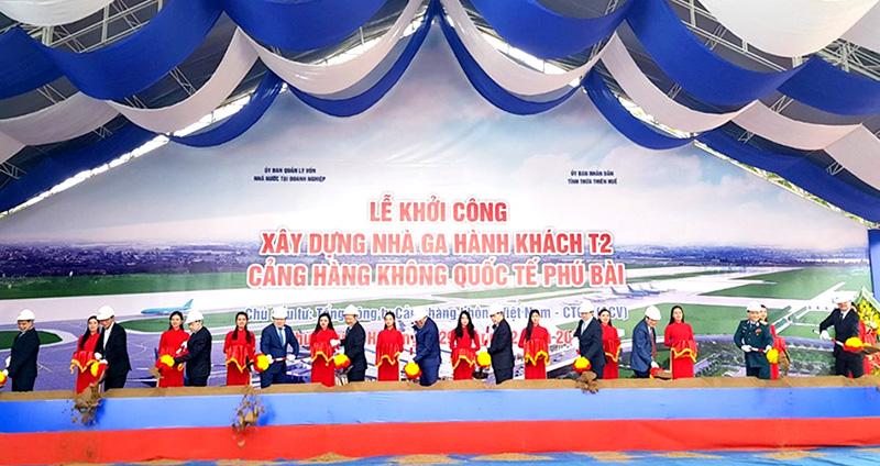 Lễ khởi công xây dựng Nhà ga hành khách T2 Cảng hàng không quốc tế Phú Bài