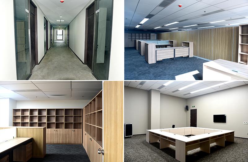 Nội thất các phòng làm việc cơ bản hoàn thành có thể đưa vào sử dụng